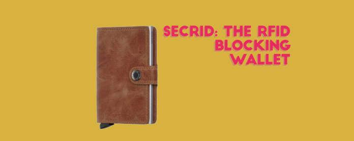secrid rfid blocking cardslide wallet