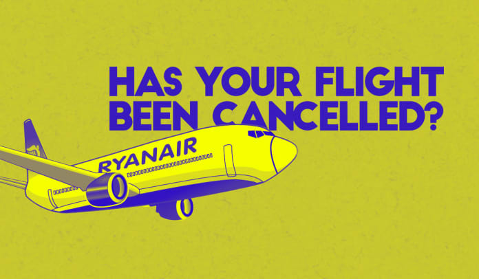 has your ryanair flight been cancelled