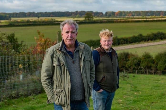 Jeremy Clarkson and Kaleb on clarksons farm