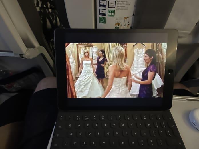 streaming netflix on Lufthansa WiFi
