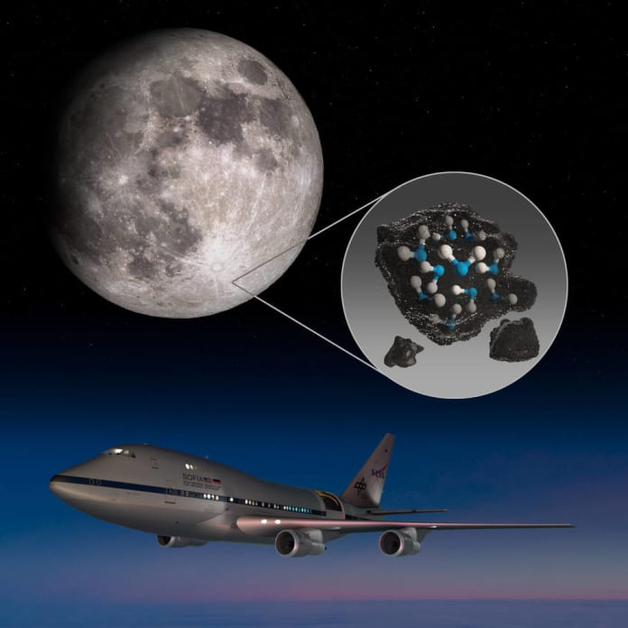 sofia mission discovers water on sunlit moon surface