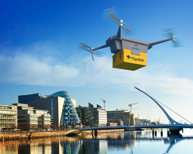 drone food delivery in dublin