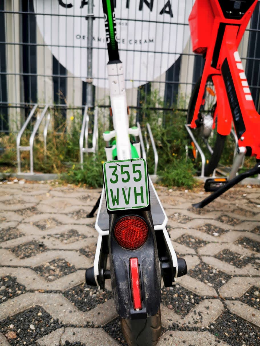lime scooter license plate Germany