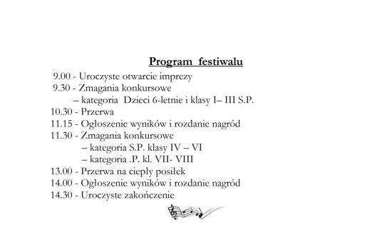 Program i lista uczestników XV Festiwalu Piosenki Niezapomniane Melodie