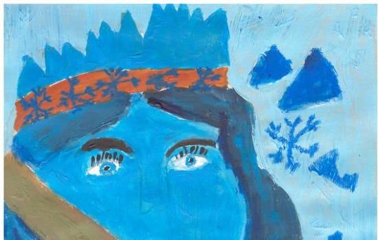 Ilustracja do baśni Królowa Śniegu