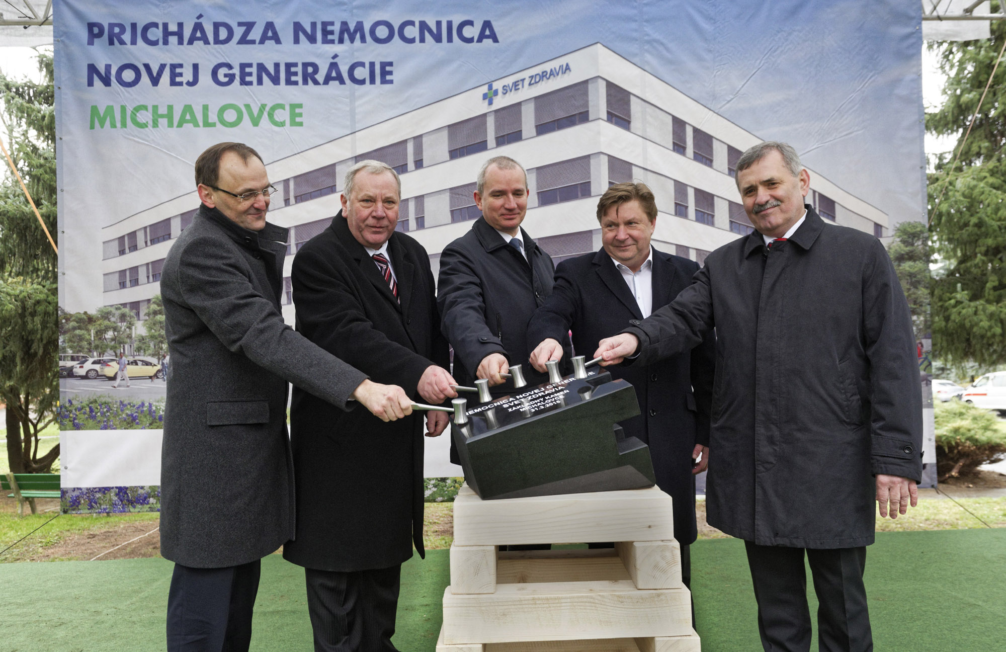 "NGH Michalovce ""First stone ceremony"""