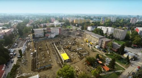 Construction progress on the Michalovce hospital