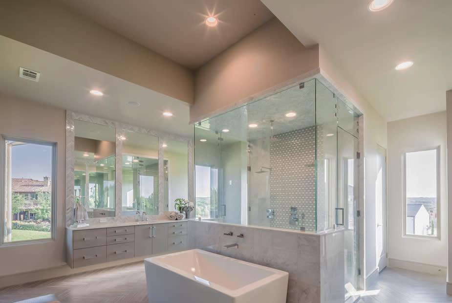 master bathroom | la cantera dream home