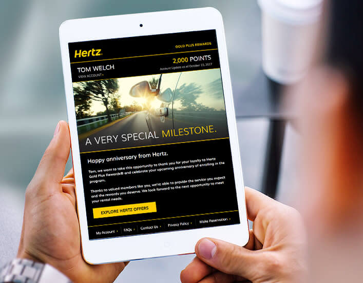 mobile application of the herts customer loyalty application
