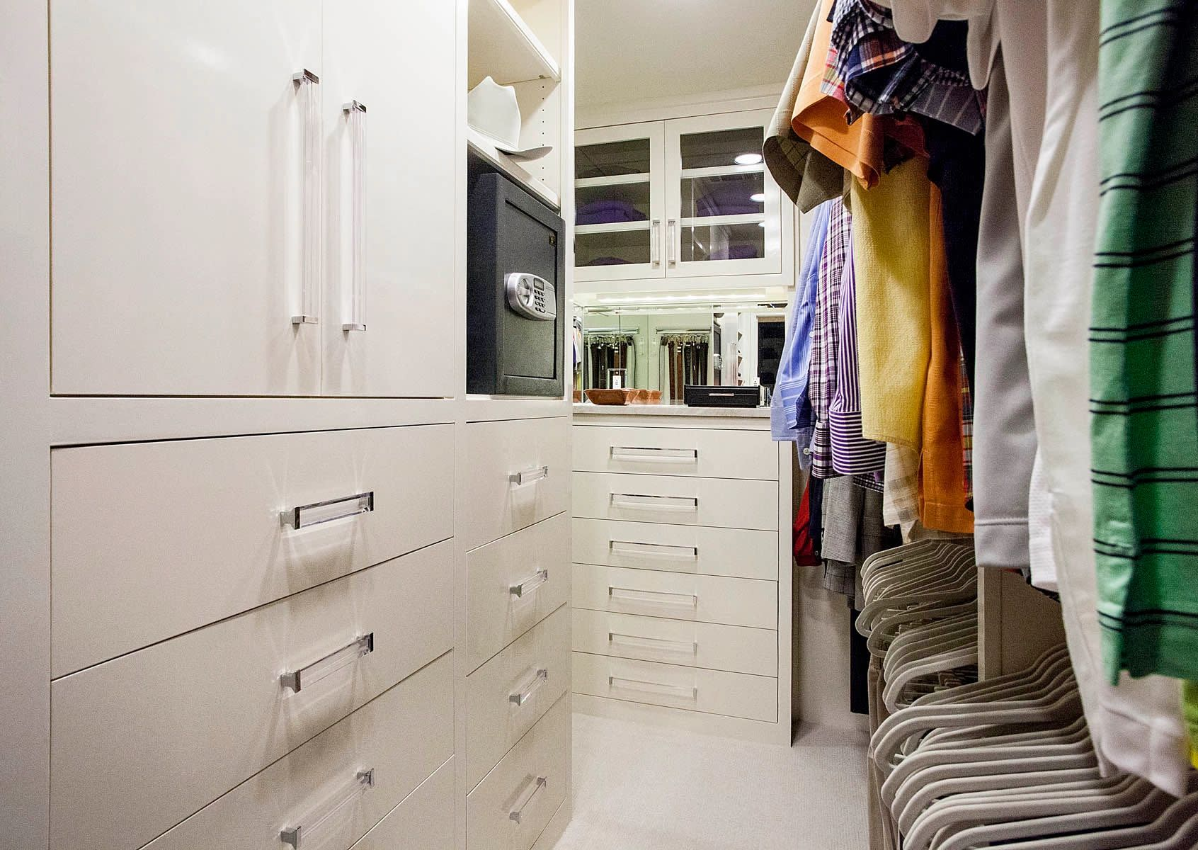 white contemporary closet
