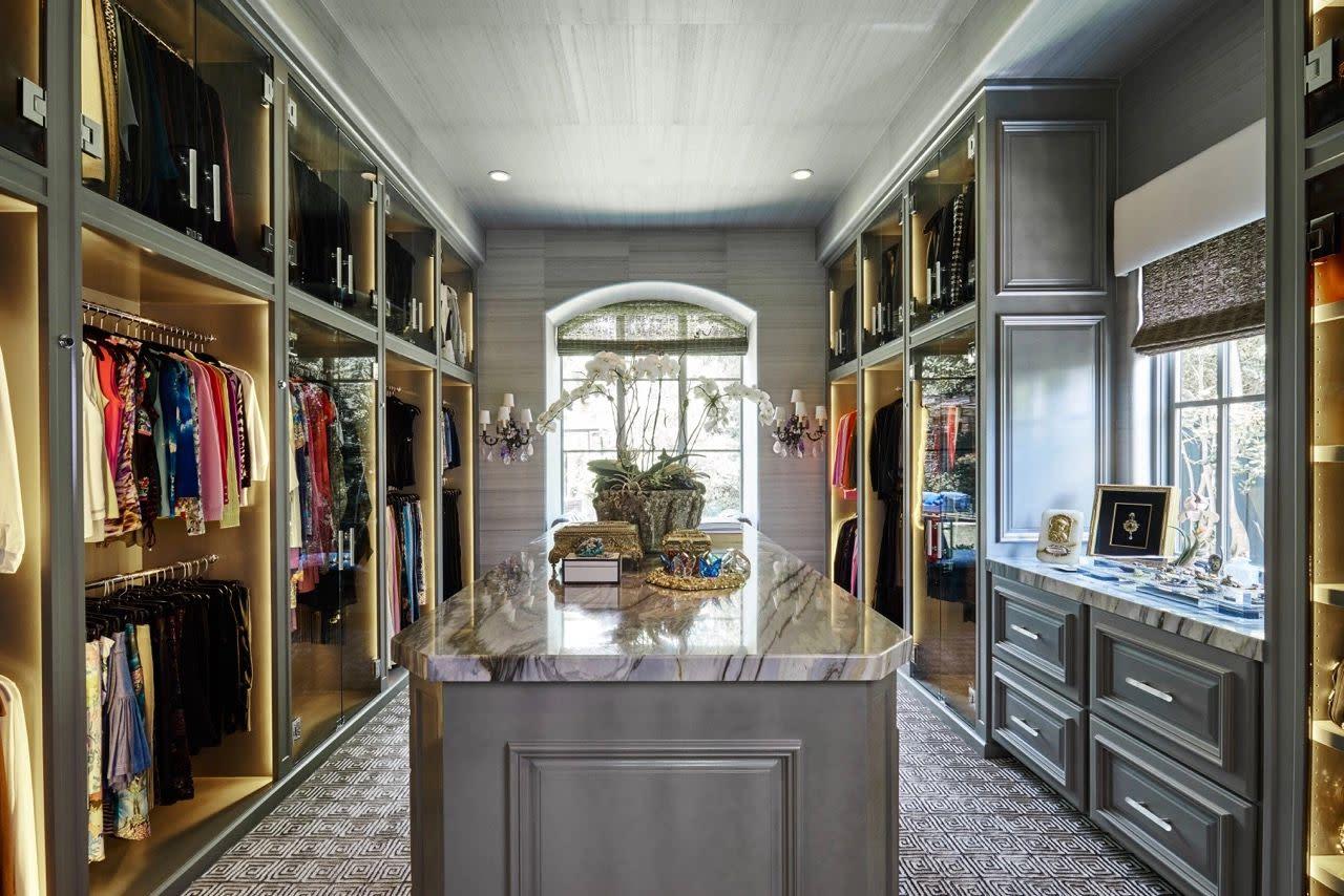 custom designed master closet