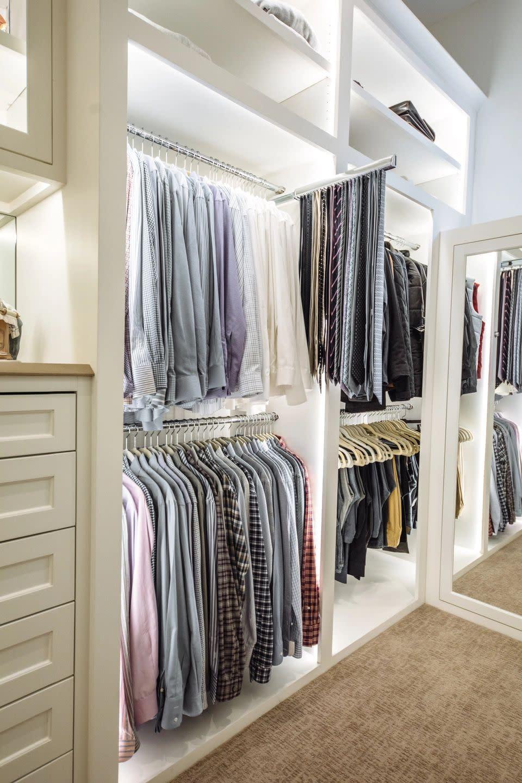 tie rack for closet