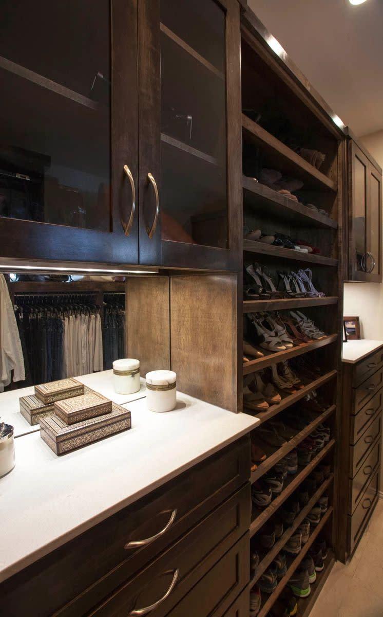 built in closet dressers