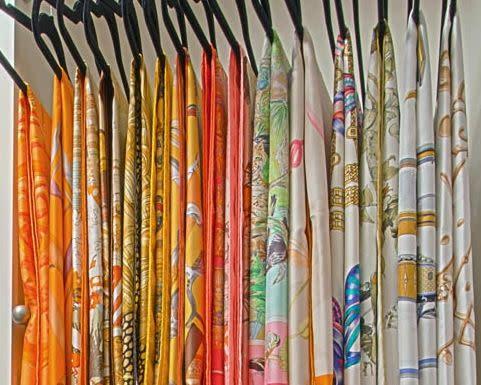 scarf storage in closet