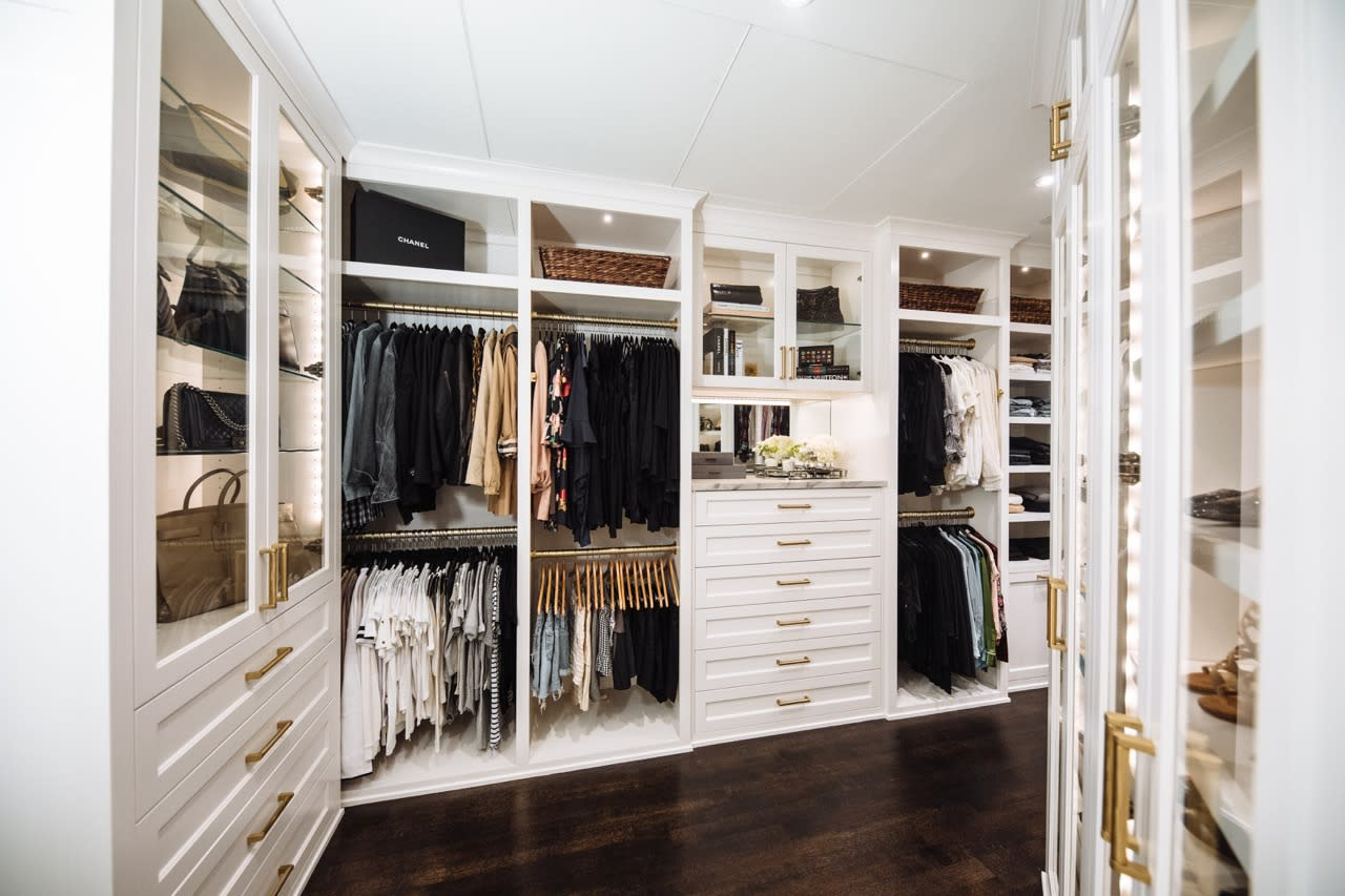 luxury white custom closet