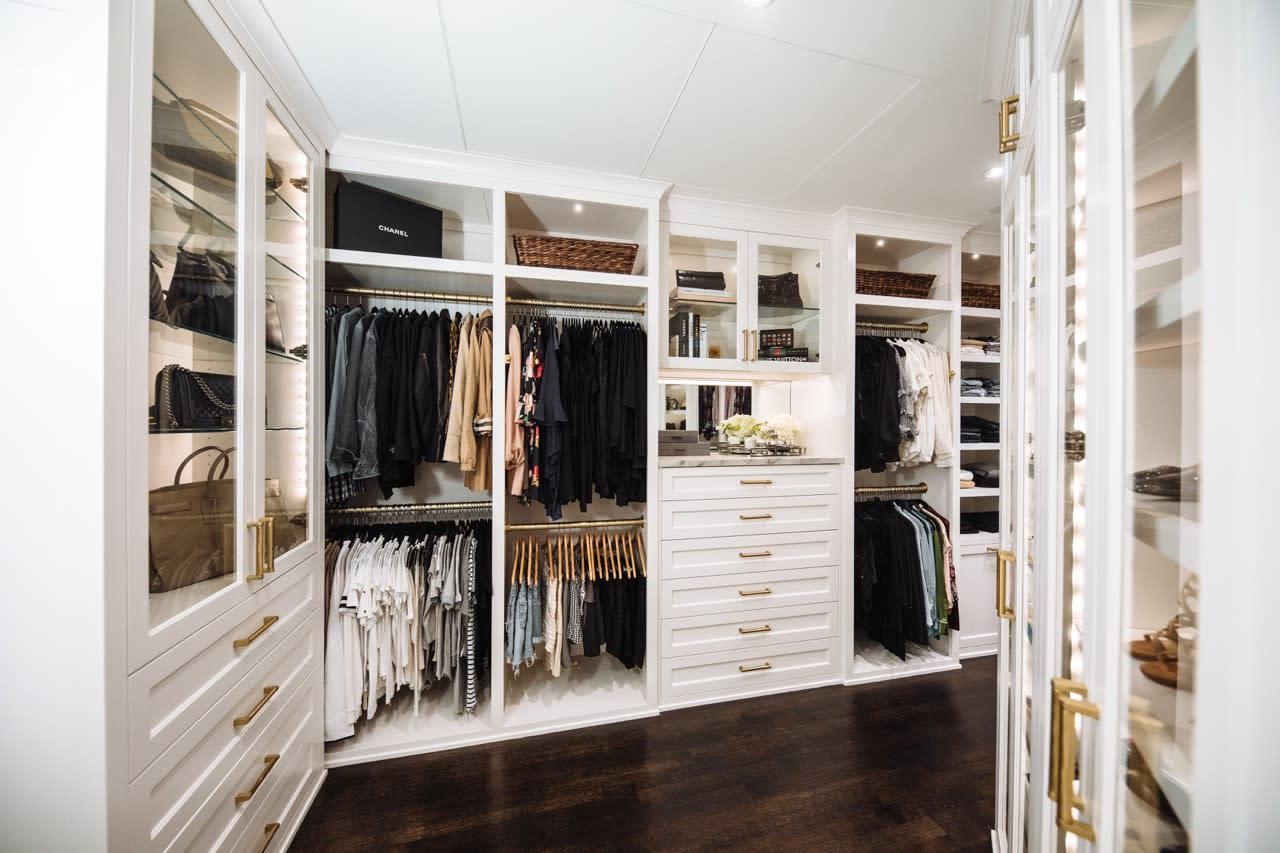 luxury white custom closet