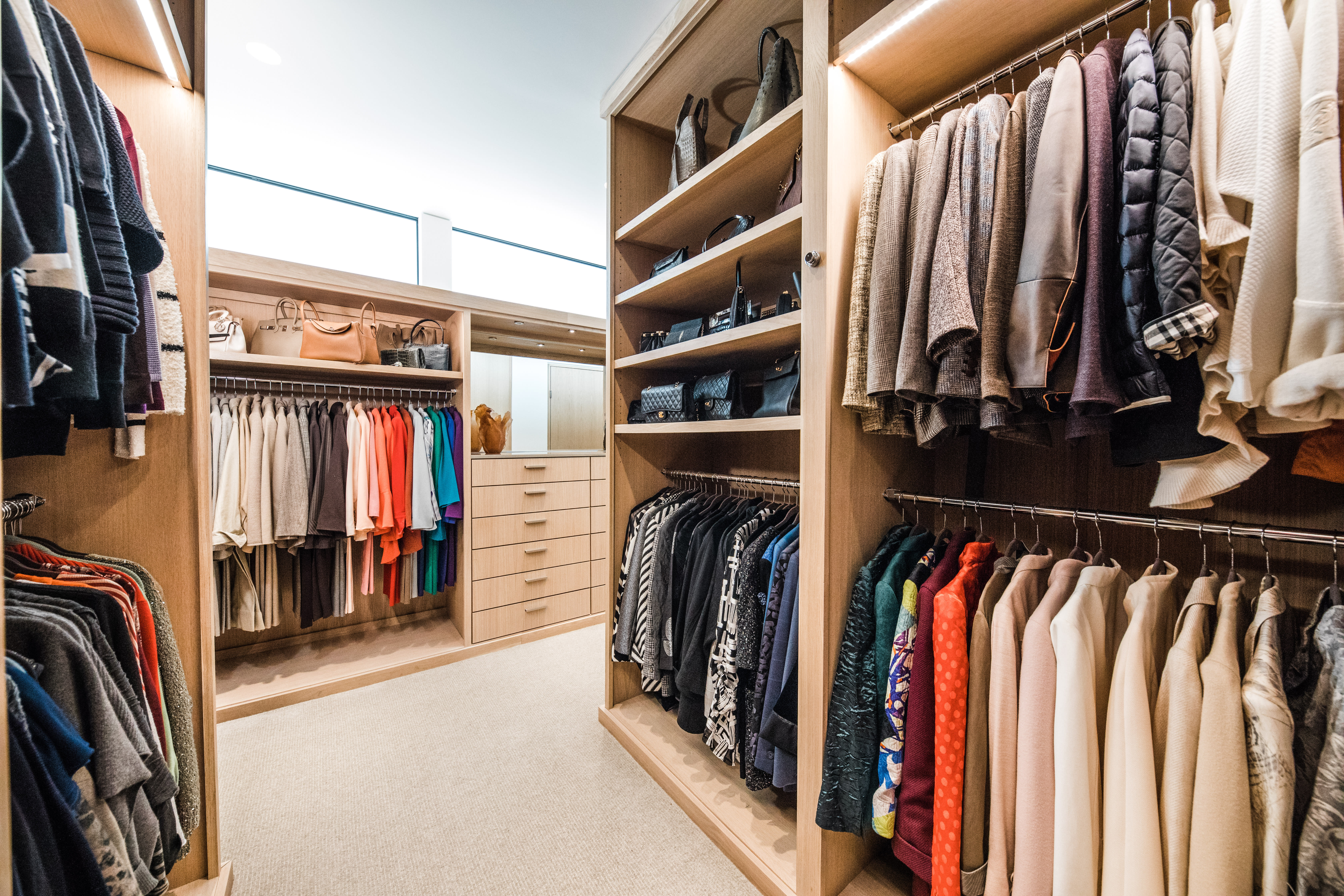 walk in contemporary closet