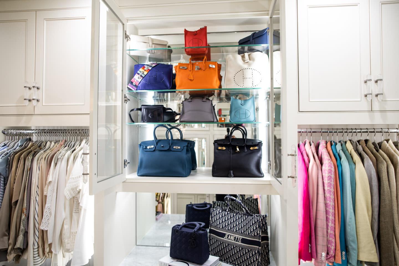 Closet with handbag storage