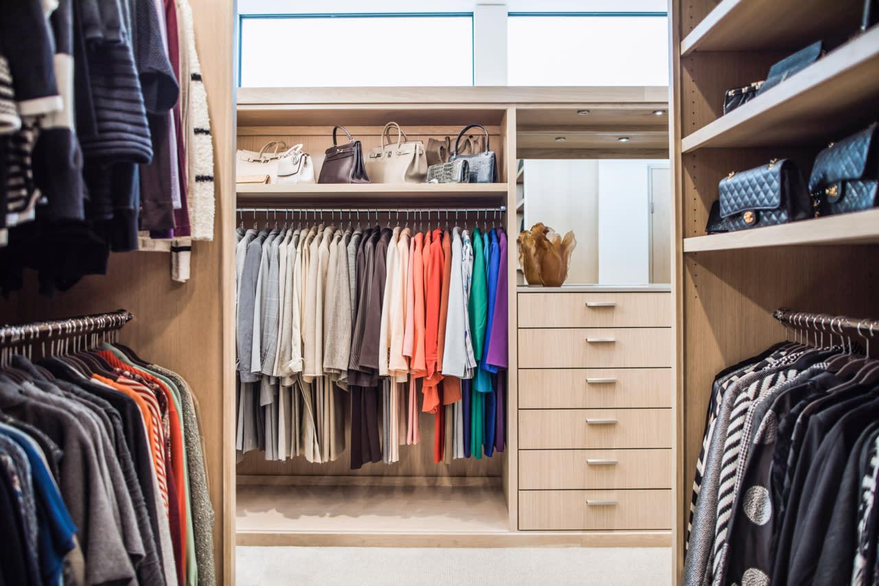 contemporary custom closet