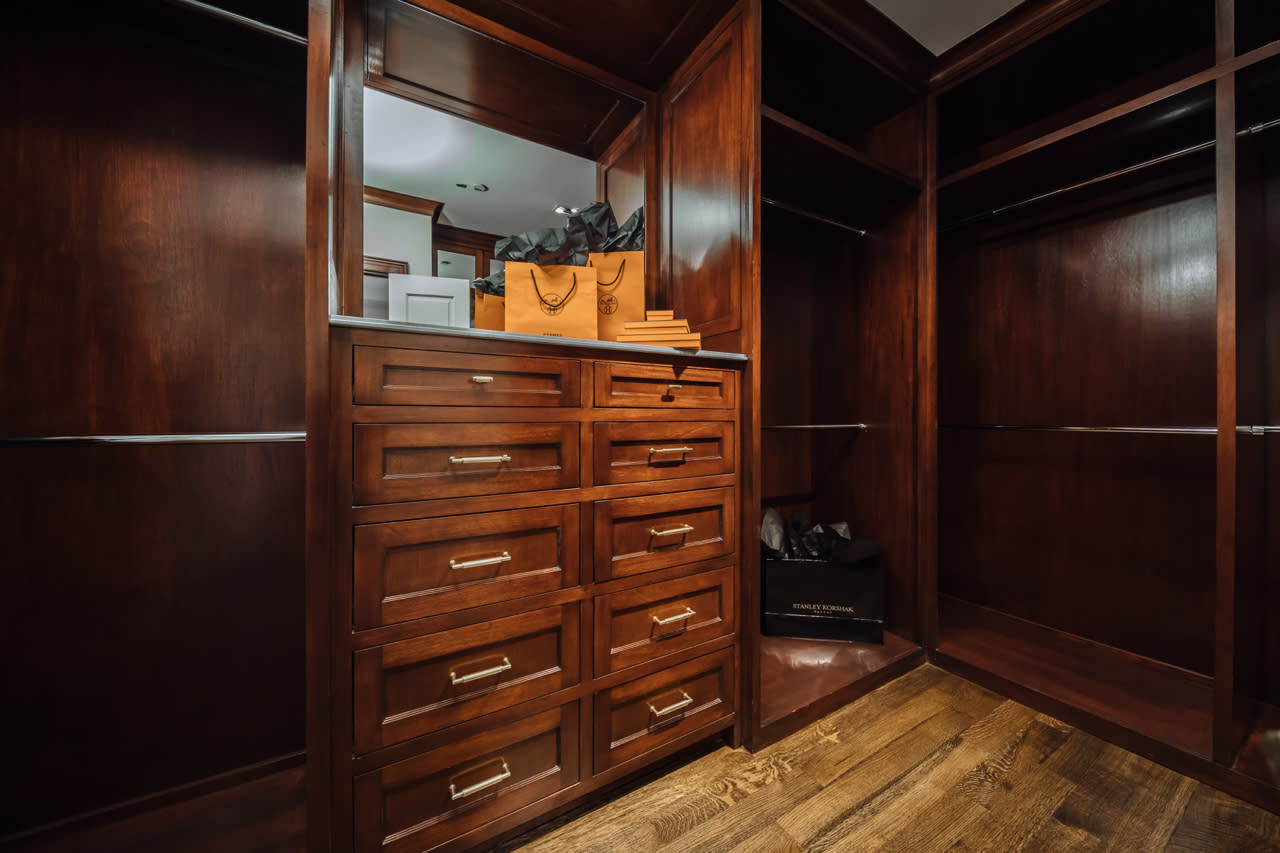 stained custom closet