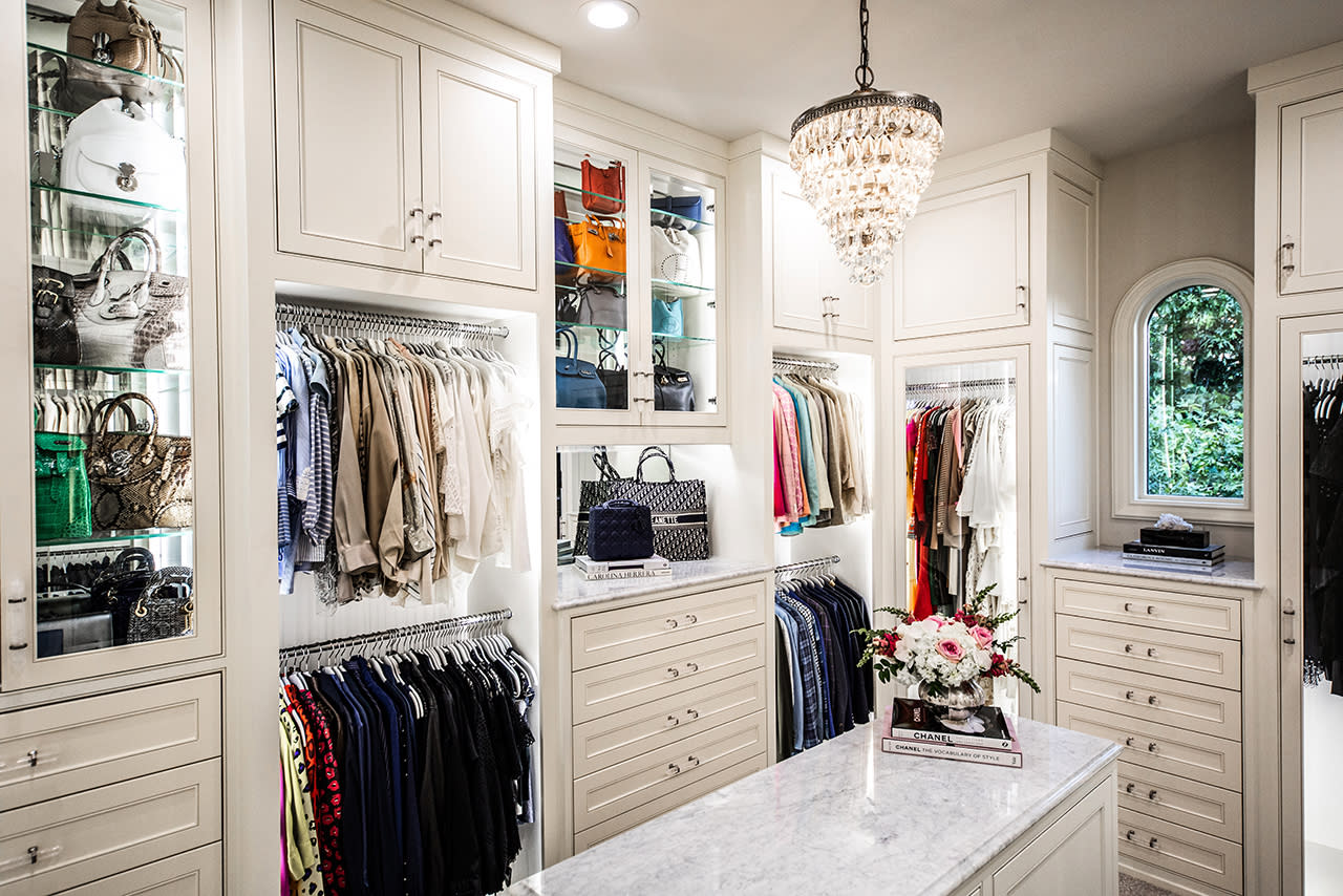 custom designed white closet
