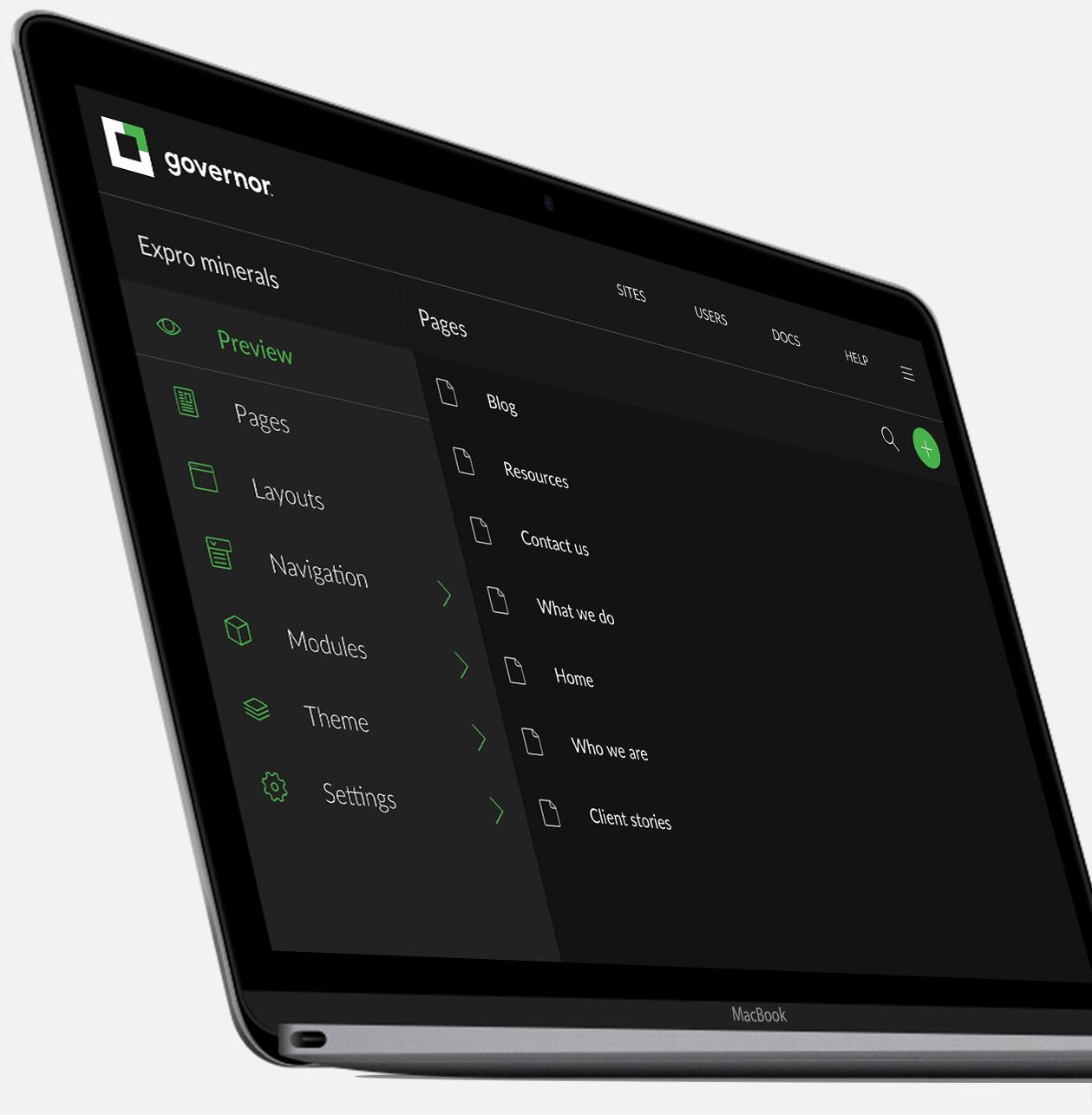 content management system interior platform
