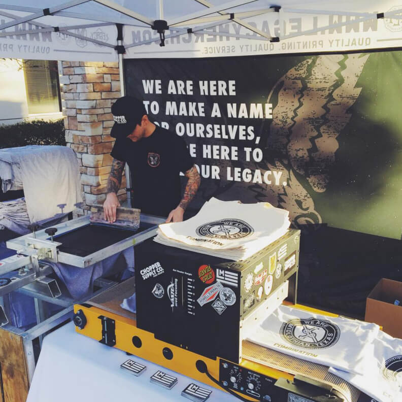 live screen printing in fort worth texas