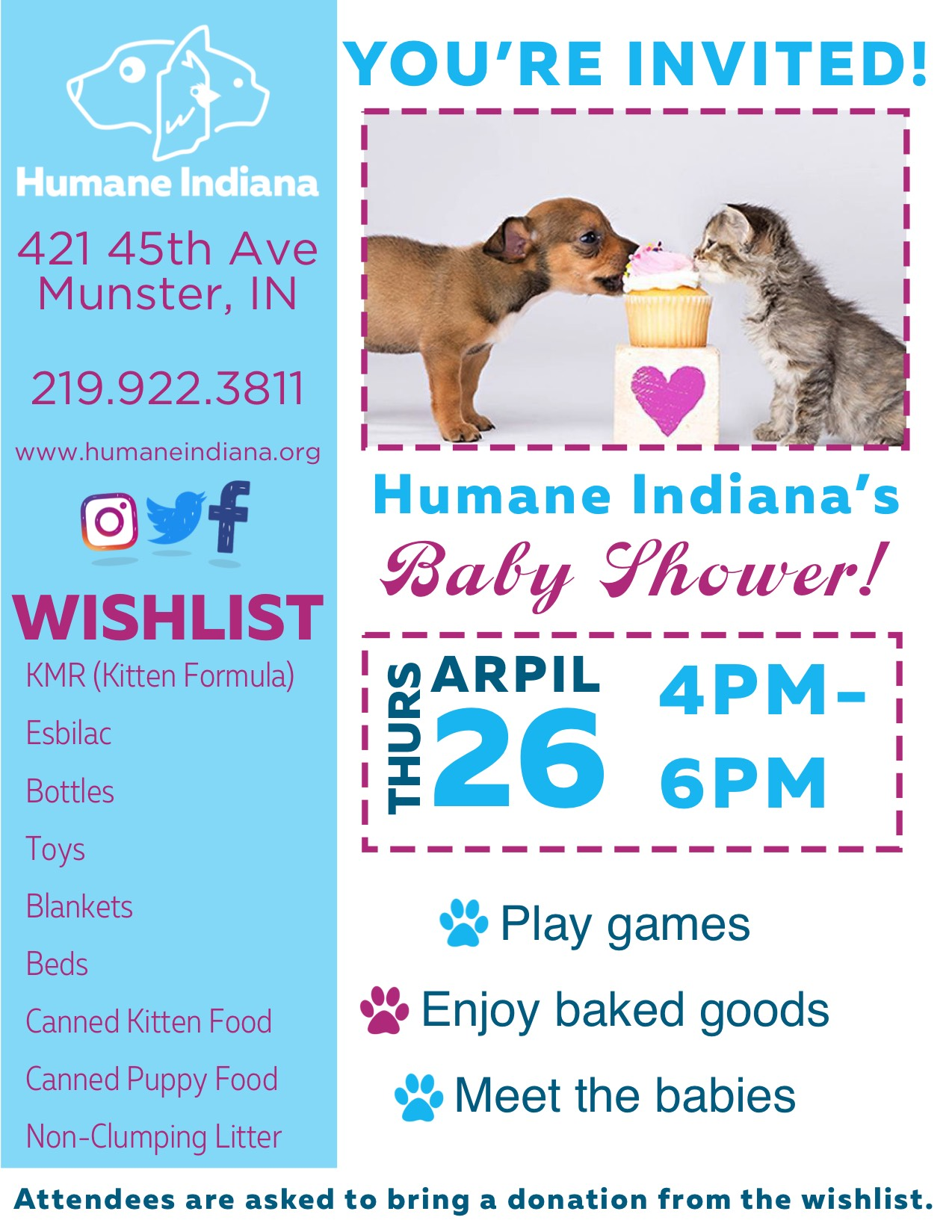 Baby shower for the Animals!