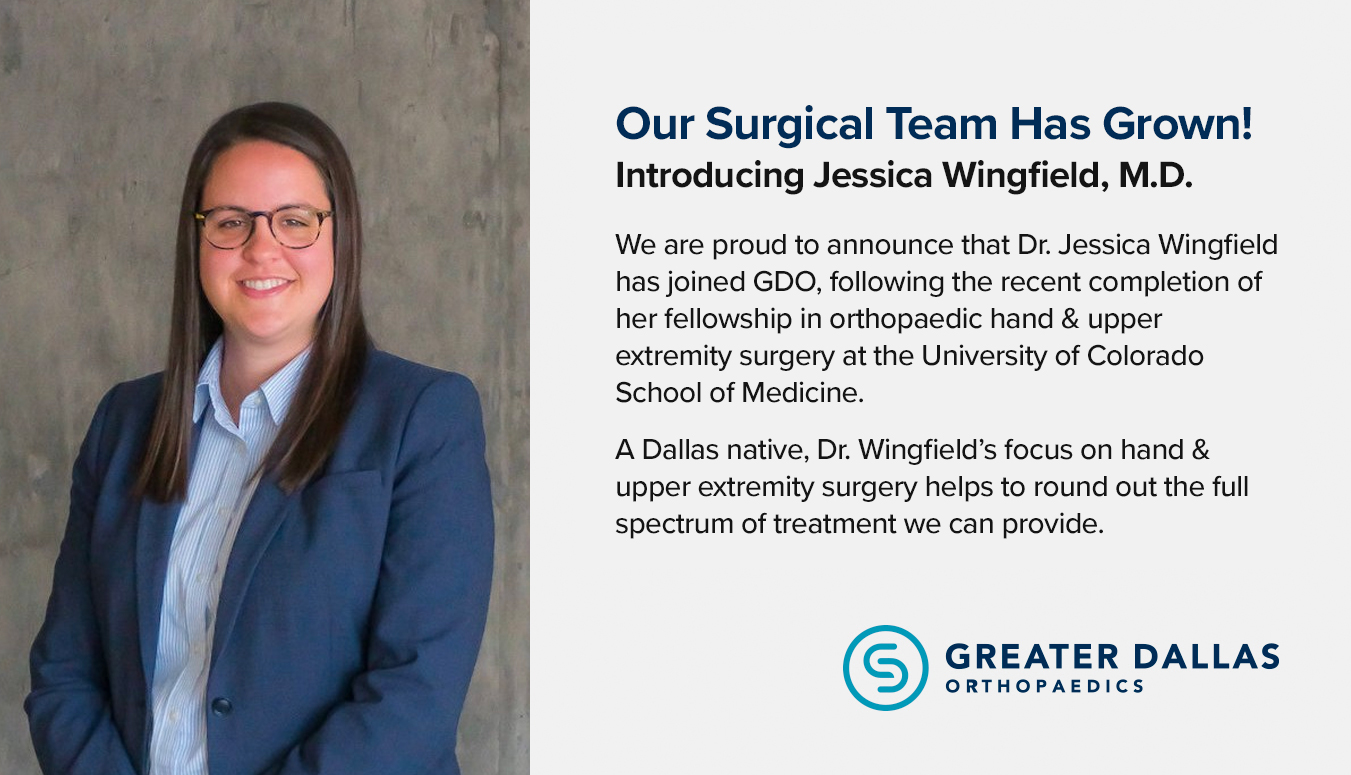 Introducing Jessica Wingfield, M D  - Orthopedic Surgery