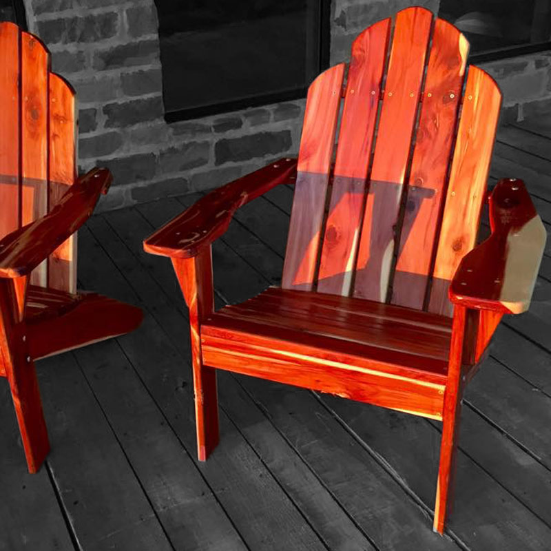 Eastern aromatic Red Cedar adirondak chairs.
