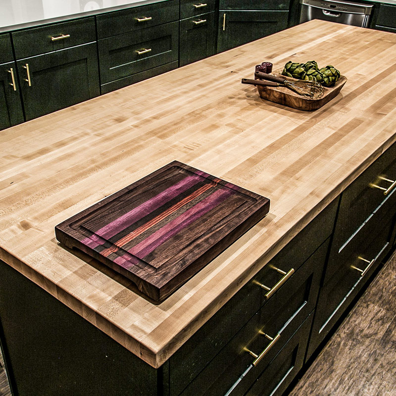 Hard Maple butcher block island top.