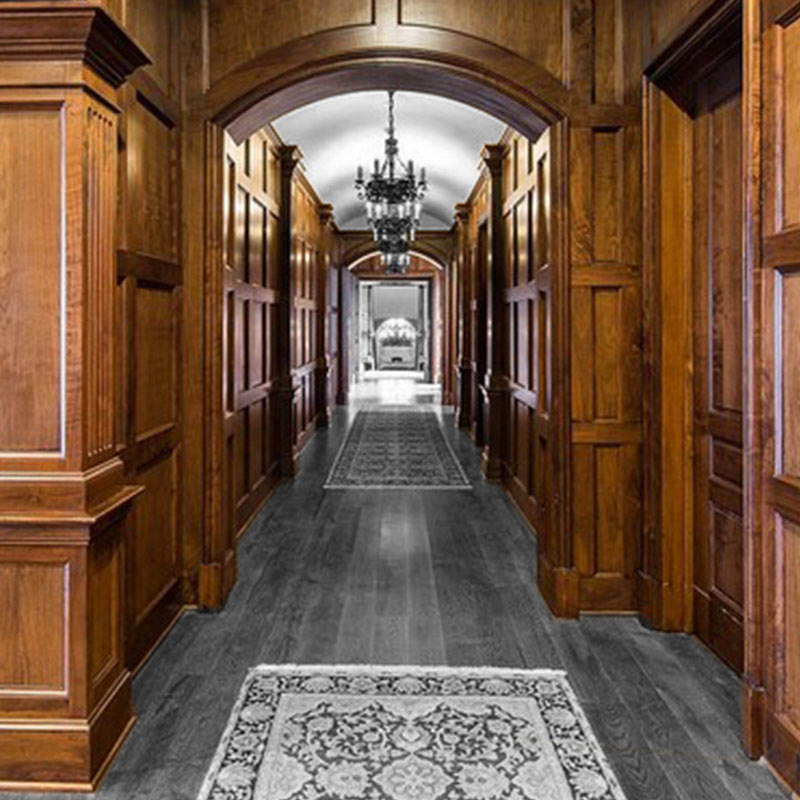 Lawyer's paneling from Walnut in a hunting lodge in Texas