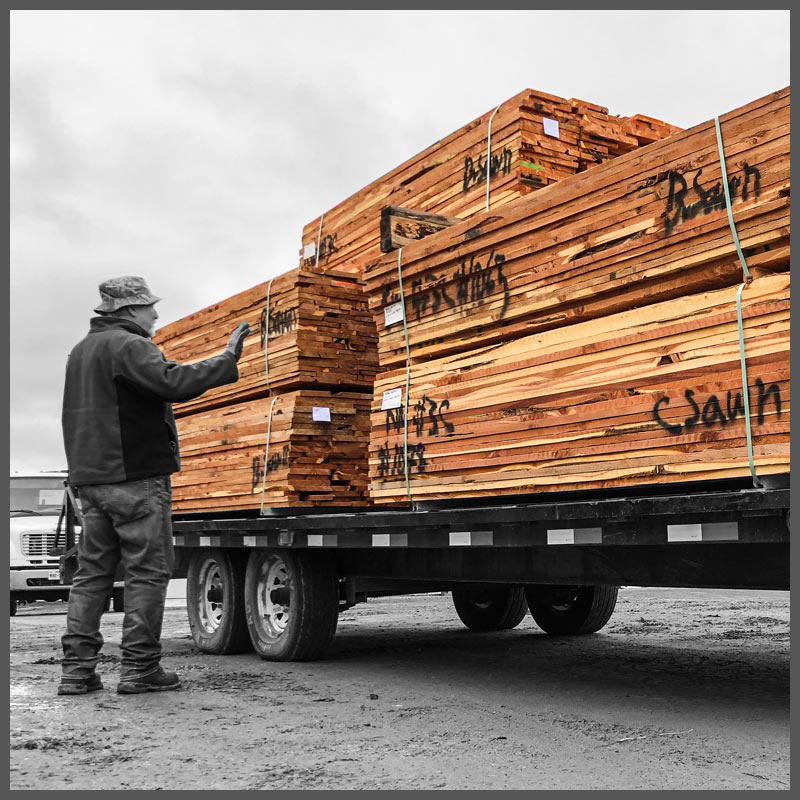 A truck load of Easter Red Cedar lumber.