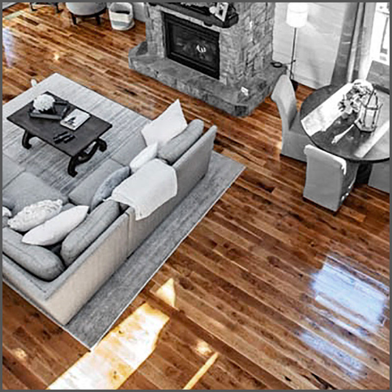 Solid and engineered wood flooring in a variety of species and grades.