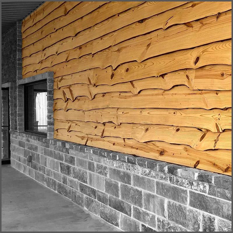 Natural edge wood siding