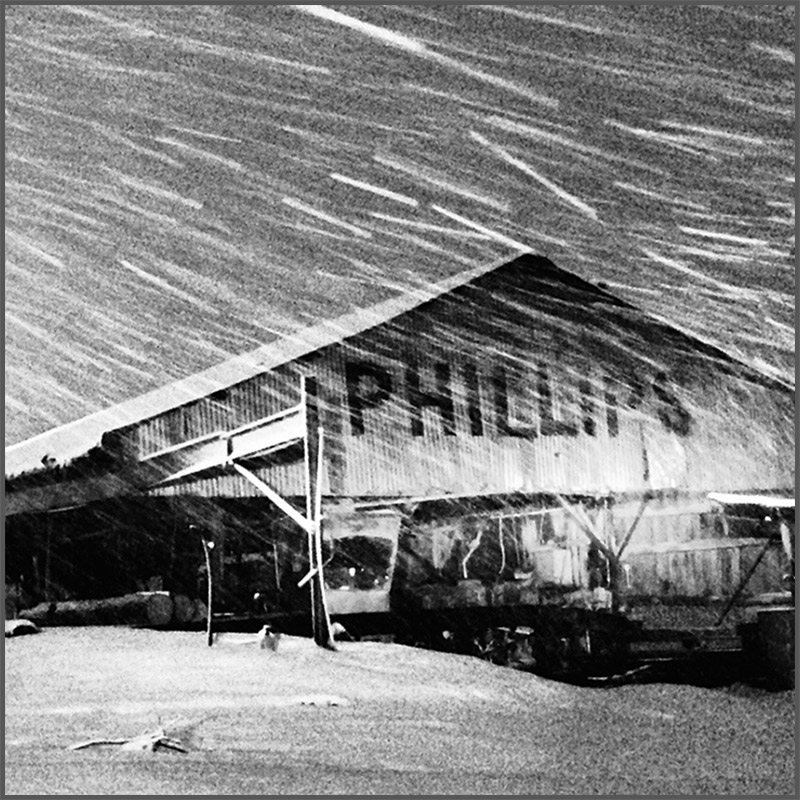 Snow in Texas at The Historic Phillips Sawmill in De Kalb, TX.