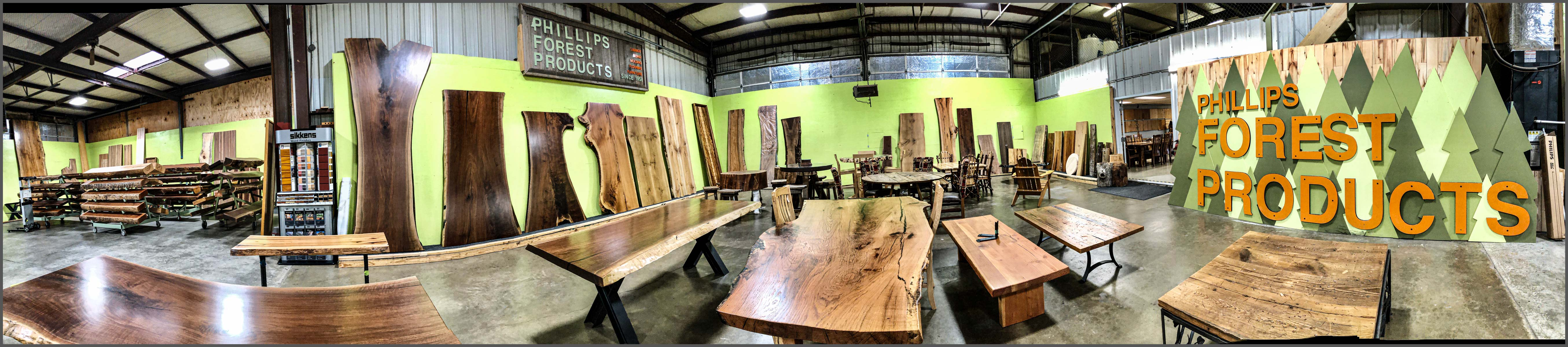 Live edge slabs, mantels, and rustic furniture available in our store in Hooks, Tx.