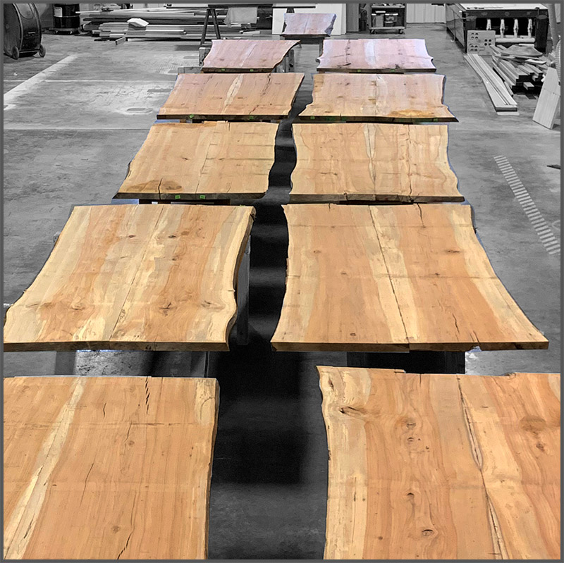 natural edge pecan wood slabs