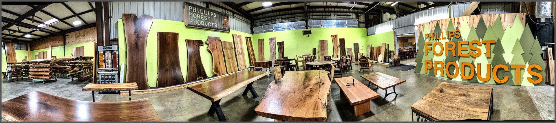 Natural edge wood slabs and mantels in Texas.