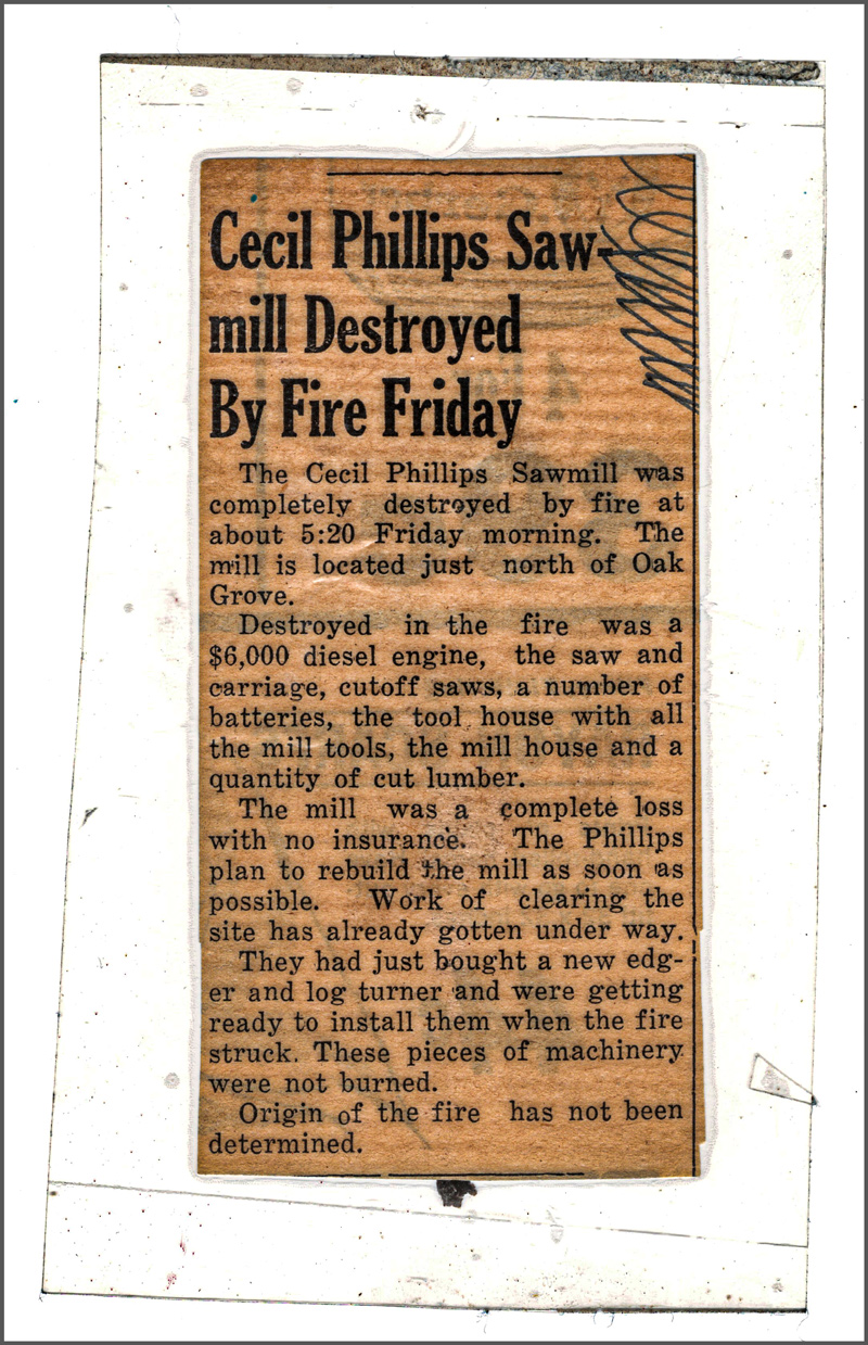 burning sawmill