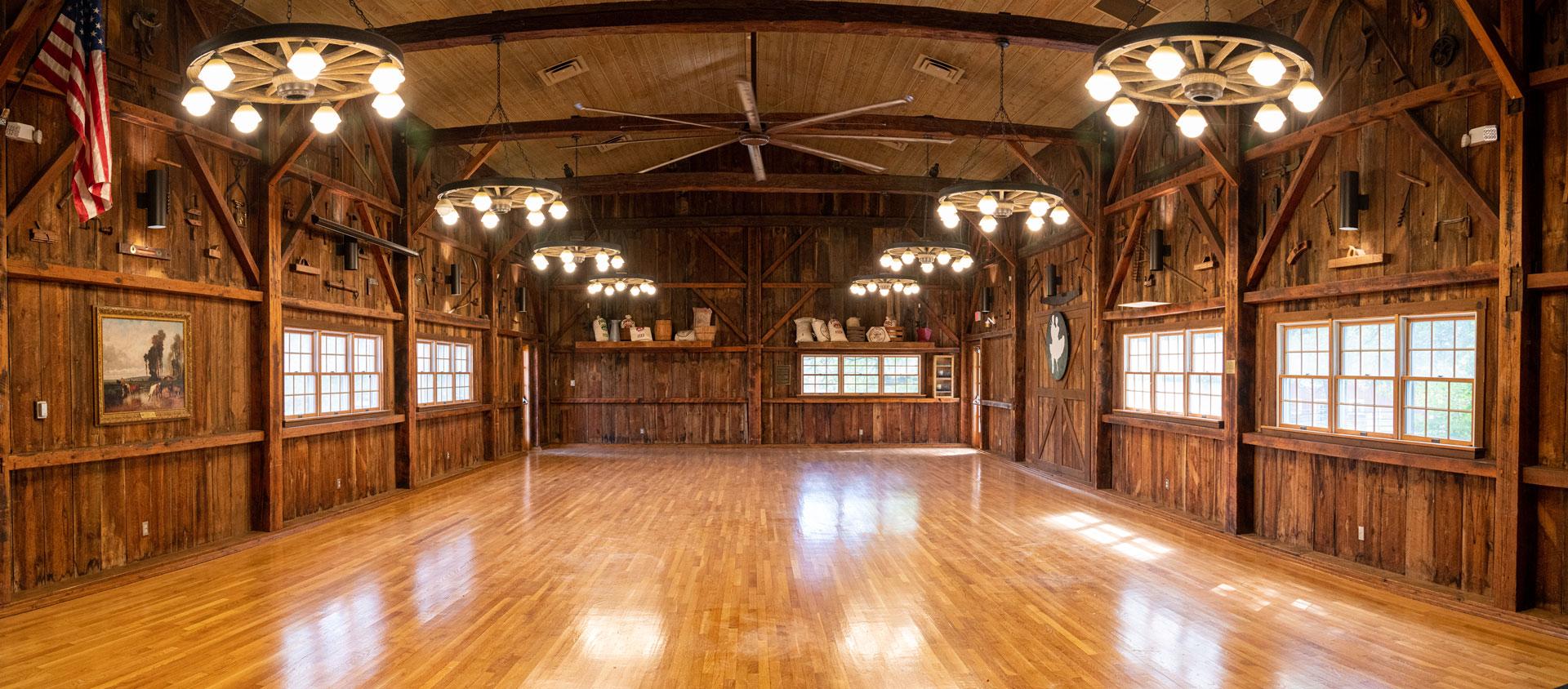 Hayloft Barn interior