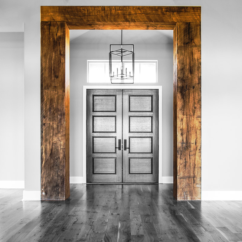 Rustic Oak wood beam entry way