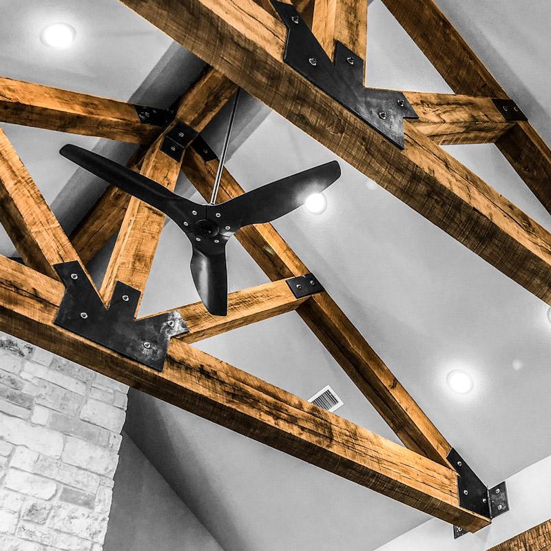 white oak beams
