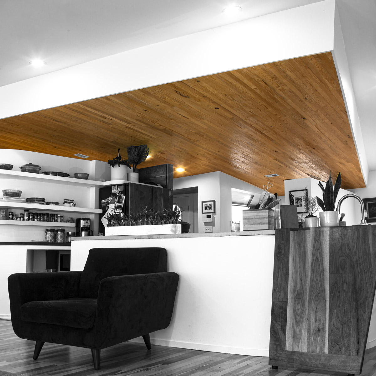 Sinker Cypress T/G wood siding