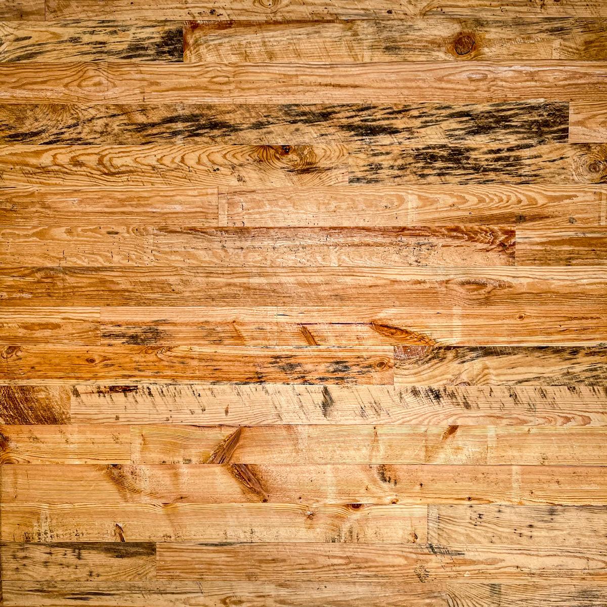 Pine wood siding