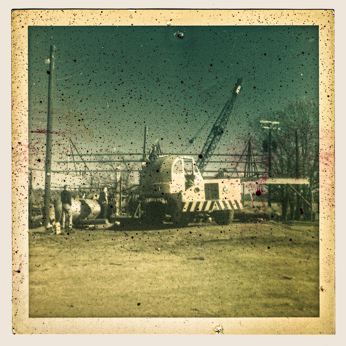 The historic Phillips sawmill being build in 1958.