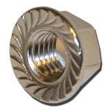 GPC Hexagon Flange Nut with Serration DIN 6923 A2 M6 (200) img