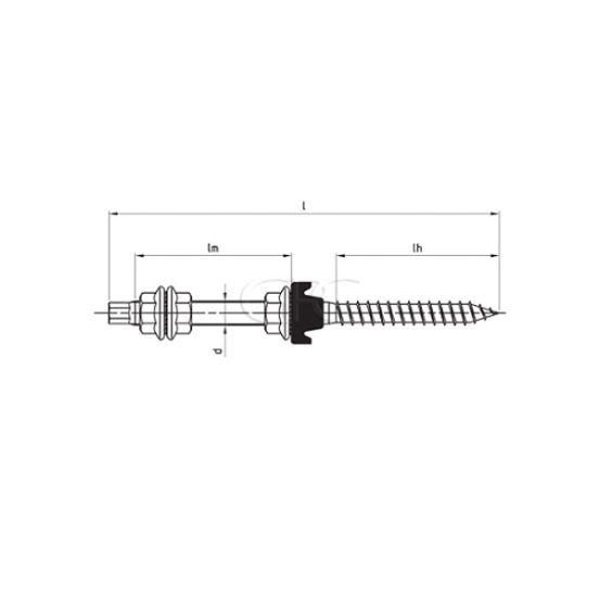 GPC Stokschroef M12*350 A2 (+ EPDM en 3 moeren) (50) 3543 img