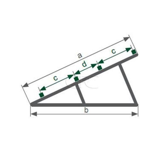 Schletter Driehoeksteun Profi U07 2.2M - 30° 3818 img