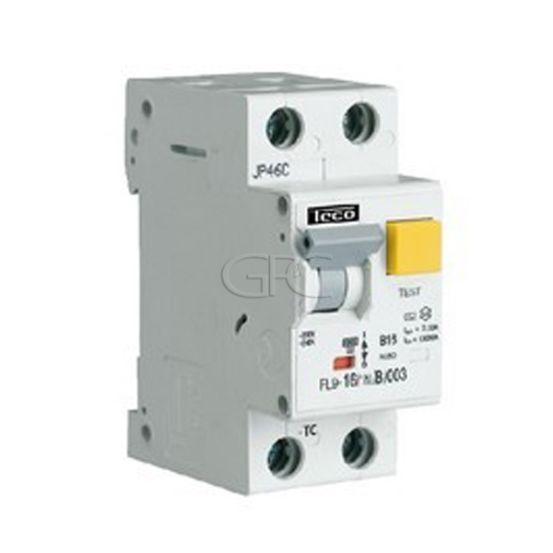 FL9101NC03A / 157769 Teco Differentieelautomaat FL9 TC 1P+N 10A 300mA Curve C 5385 img